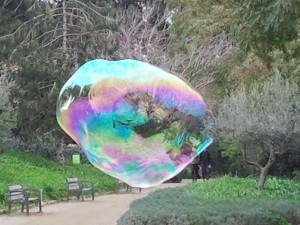 Zeepbel in Parc Guell